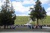 Braving the crowds at Old Faithful
