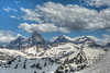 The Teton Range from the top of Fred's Mountain - Grand Targhee Ski Resort - Alta, Wyoming