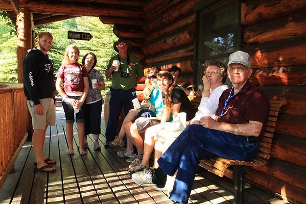 Waiting for the BarJ Chuckwagon Show - Jackson Hole, Wyoming