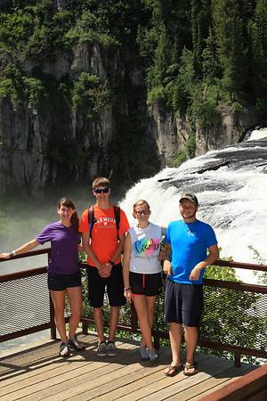 Cousins at Mesa Falls near Ashton, Idaho.