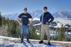 Travis (left) and Aaron strike a pose on Spring Break in Jackson Hole, Wyoming.