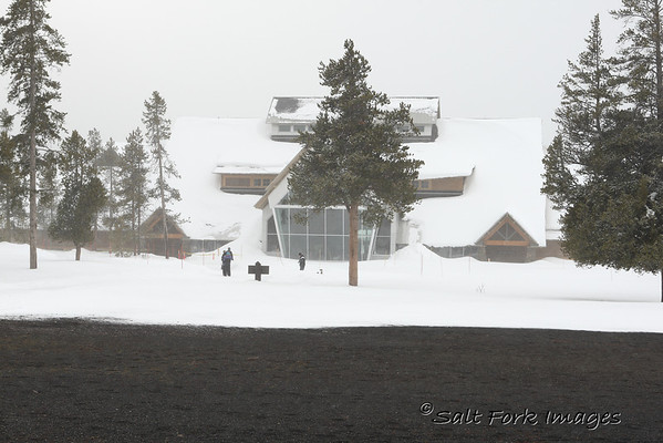 Old Faithful Visitor's Center in Yellowstone National Park