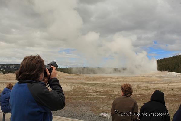 David shooting Old Faithful.