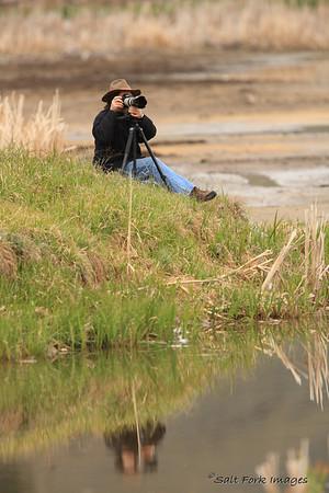 David shooting birds.