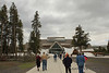 The new Visitor's Center at Old Faithful