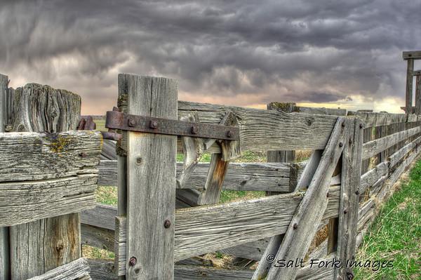 Cattle pens in Tetonia, Idaho.