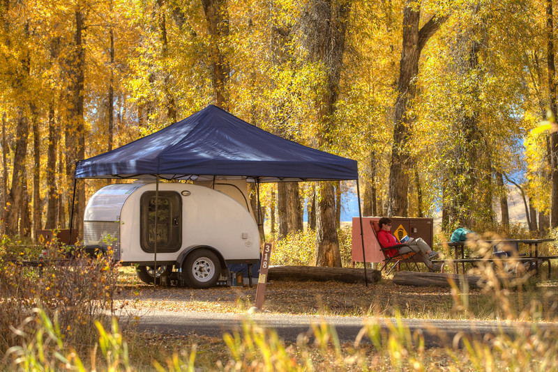 Something new for us!  Camping in the Gros Ventre Campground in our Gateway Teardrops Camper - GTNP, Wyoming