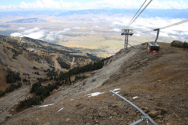 Looking down over Jackson Hole from Rendezvous Mountain - Jackson Hole Resort, Wyoming