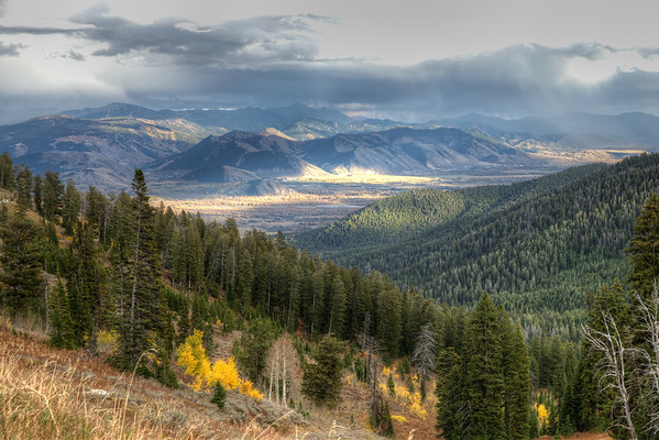 Another view of Jackson Hole from Teton Pass ... WITHOUT the fog!