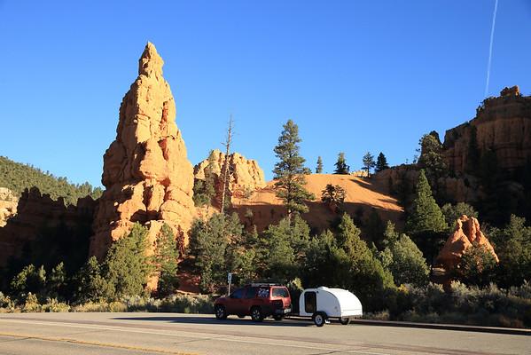 Enjoying our Gateway Teardrop adventure in Red Canyon, Utah