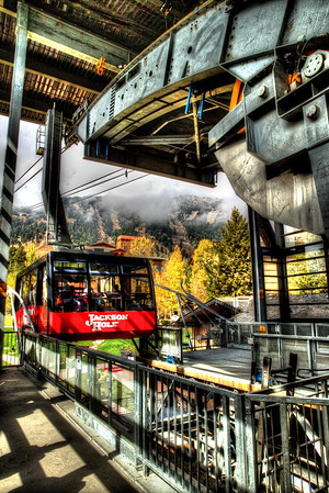 We  rode the Aerial Tram at Jackson Hole Resort.  Way cool!