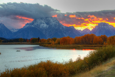 Sunset behind Mount Moran - Wyoming