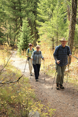 Hiking in the Tetons with our friends Greg and Karen