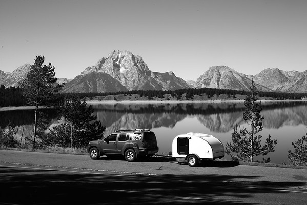 If only Ansel Adams had a tiny camper for his western adventures....He could have taken a shot like this!