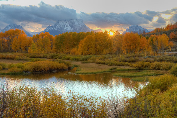 Sunset at Oxbow Bend - Grand Teton National Park, Wyoming