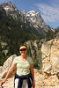 Jill heads up the trail to Inspiration Point above Jenny Lake.  This was the beginning of a 14 mile day.  Notice that she is still smiling.