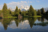 I never get tired of Schwabacher's Landing in Grand Teton National Park.