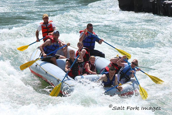 Whitewater rafting on the Snake River is a popular pastime in the Jackson Hole area.  I took these shots from a place called Lunch Counter.  The trail goes down to some rocks where you can eat your lunch and watch people wipe out on the rapids.