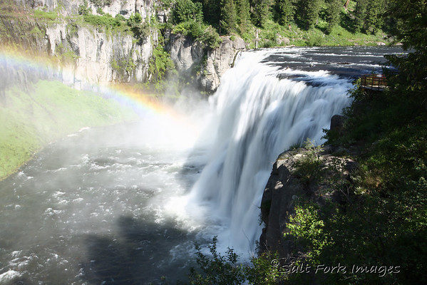 Upper Mesa Falls on Henry's Fork of the Snake River near Ashton, Idaho.