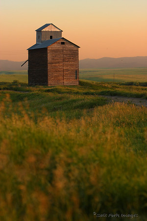 This old grain elevator in Teton Valley sits along an old railroad track that is now used as a hiking / biking trail.