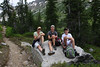 The crew takes a break along the way in Cascade Canyon.