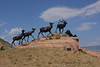 This new sculpture overlooks the National Elk Refuge in Jackson Hole.