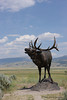 This guy stands guard outside the National Museum of Wildlife Art in Jackson Hole, Wyoming.