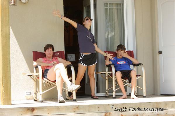 Back porch theatrics....