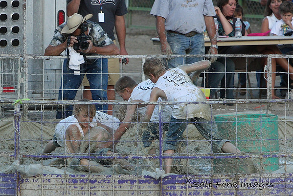 The boys' t-shirts had their team name:  PETS - People Eating Tasty Swine.