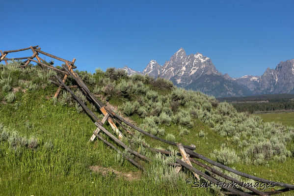 Grand Teton National Park on a bluebird morning.