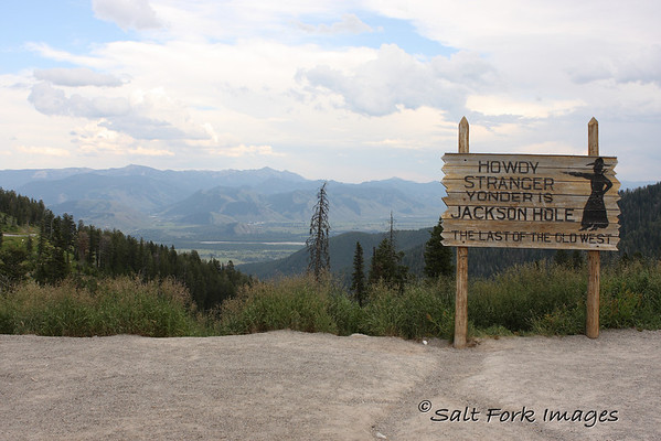 From the top of Teton Pass on Wyoming Highway 26, between Teton Valley, Idaho, and Jackson Hole, Wyoming.