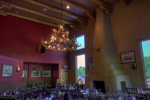 Inside the Branding Iron dining room at Targhee.