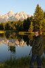 Jessica shoots at Schwabacher's Landing in GTNP.
