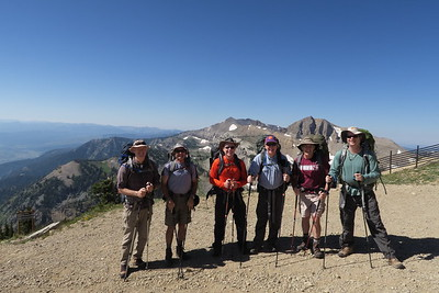Ready to go from the top of Rendezvous Mountain - Teton Range above Jackson Hole, Wyoming