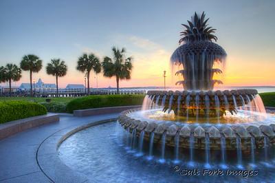 Pineapple Fountain - Charleston, South Carolina
