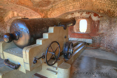 Big guns like this weren't enough in 1861 when Federal Troops tried to hold Fort Sumter.