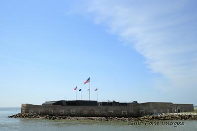 Fort Sumter in Charleston Harbor - Charleston, SC.