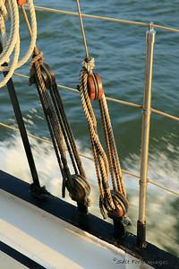 On board Schooner PRIDE for a sunset trip around Charleston Harbor.