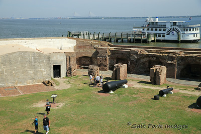 Visiting Fort Sumter in Charleston Harbor