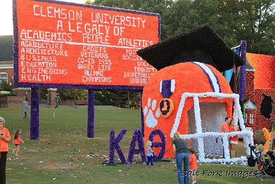One of the many Homecoming displays on Bowman Field - Clemson University - Clemson, South Carolina
