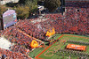 """""""The most exciting 25 seconds in College Football!""""  The Clemson Tigers take the field in Death Valley running down the hill after rubbing Howard's Rock.  Clemson defeated Georgia Tech, 27-13."""