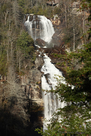 Whitewater Falls is located north of Clemson, South Carolina, just over the North Carolina border.
