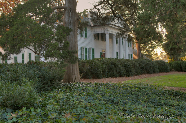 Fort Hill Plantation in the center of the Clemson University Campus.  Former home of Vice President John C. Calhoun and later, his son-in-law Thomas Green Clemson.