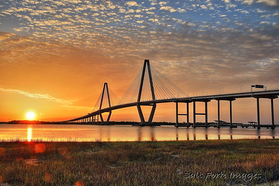 Ravenel Bridge - Charleston Harbor - Mount Pleasant, South Carolina