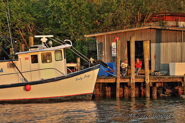 Swapping tales on Shem Creek - Mount Pleasant, South Carolina