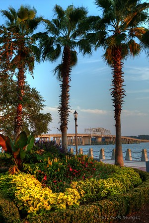 Along the waterfront in Beaufort, South Carolina