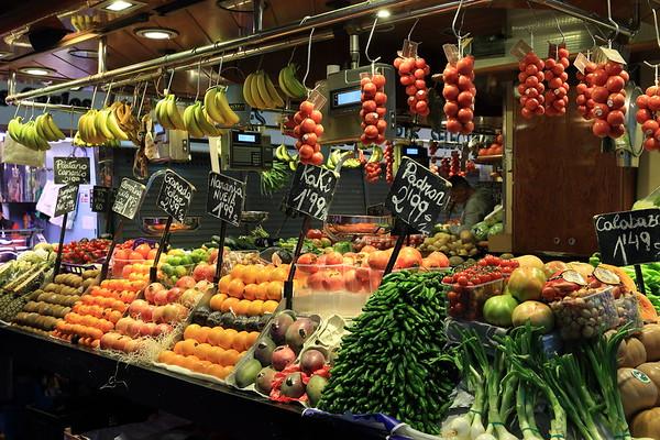 Market in Barcelona, Spain