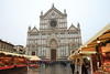 Christmas Market in front of the Basilica of Santa Croce