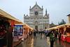 Christmas Market at Basilica of Santa Croce - Florence, Italy