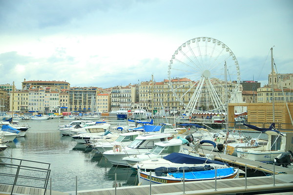 The old harbor at Marseille, France